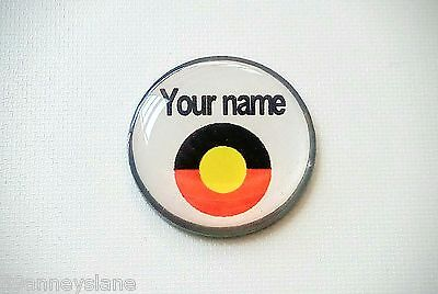 anneys - your OWN PERSONALISED  ** Aboriginal flag ** golf ball marker!!
