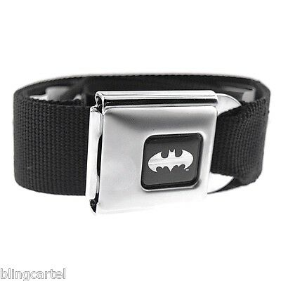 Batman DC Comics Black & Silver Licensed Seatbelt Seat Belt Style Buckle Down