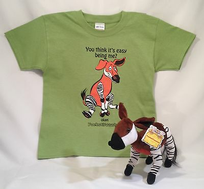 SPECIAL--Okapi Stuffed Animal & Matching T-Shirt Gift Set by PocketFuzzies