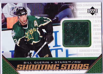 2005-06 Upper Deck  Bill Guerin -Game Used Jersey  Shootng Stars Trading Card
