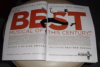 2015 Mint Print Ad Poster The Book of Mormon Broadway Theatre Best Musical 2 pg