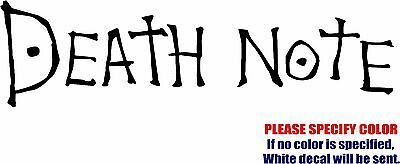 Vinyl Decal Sticker - Death Note Anime Car Truck Bumper Window Laptop JDM Fun 7""