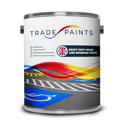 Chlorinated Rubber Road Car Park Line Drain Marking Paint - Touch Dry in 25 Mins