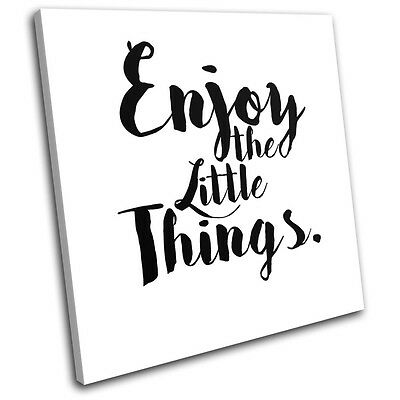 Motivational Life Quote Typography SINGLE CANVAS WALL ART Picture Print