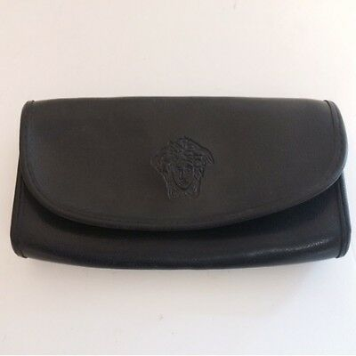 Black Leather Effect Glasses Case