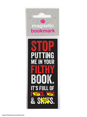 Brainbox Candy Filthy Book magnetic bookmark rude funny cheap gift present joke