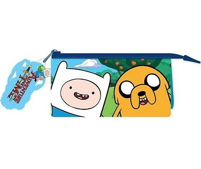 ADVENTURE TIME FRIENDS  MULTI-POCKET PENCIL CASE : Stationery : WH3 : 129 : NEW