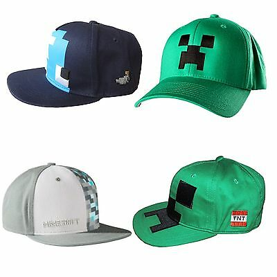 OFFICIAL Boys Minecraft Baseball Caps Hats