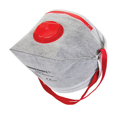 Dust Mask Respirator Fold Flat Valved FFP3 Activated Carbon Safety Filter 1-100