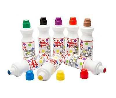 Chubbie Paint Markers  - Scola  Pack 8 x 75ml Assorted Colours Ref: CM75/8/AC