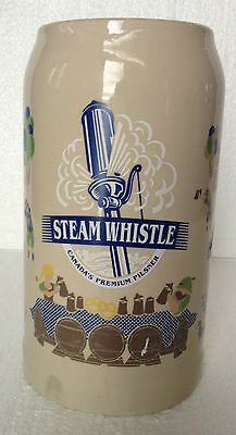"""Steam Whistle Brewery Octoberfest Beer Stein Mug Canadian Pilsner - 8"""" tall 1 L"""