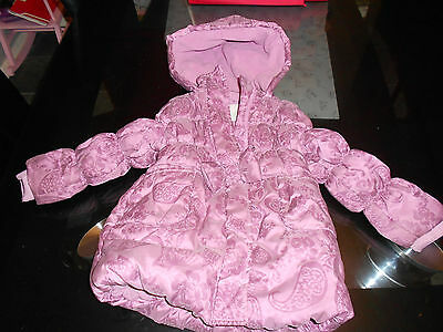 Monsoon kids children coat jacket hooded padded quilted puffer puffa