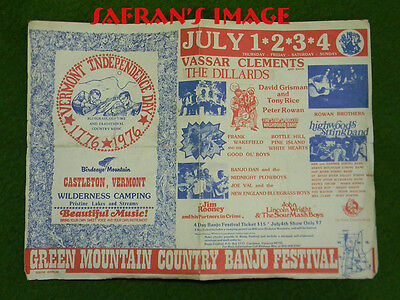 Vintage 1976 Green Mountain Country Banjo Festival BLUEGRASS Collectors L@@K