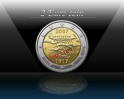"FINLAND 2 EURO 2007 "" Independence "" Commemorative coin * UNCIRCULATED"