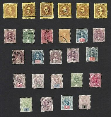 Sarawak 1871-1922 collection mint & used