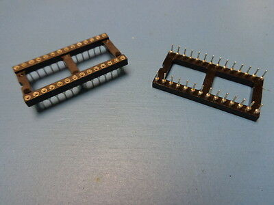 2) MM 110-93-628-41-001000 28 pin DIP 600mil tin lead Open Frame IC Socket EPROM