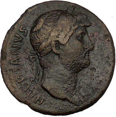 Hadrian  travelling 126AD Large Rare Ancient Roman Coin  Galley i53596