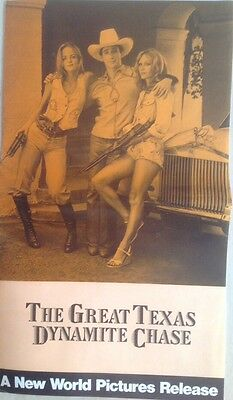 The Great Texas Dynamite Chase Movie Pressbook, Claudia Jennings,johnny Crawford