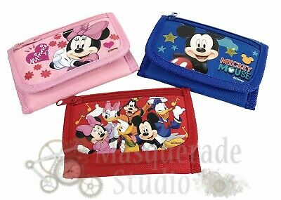 Disney Mickey Mouse & Minnie Kids Tri-Fold Wallet Coin Purse