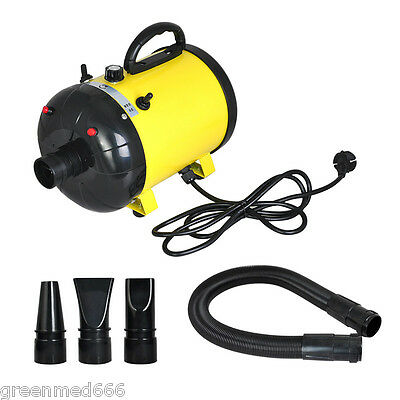 2400W Adjustable 2-Speed Grooming Pet Hair Dryer Dog Cat Animal hair Air Blower
