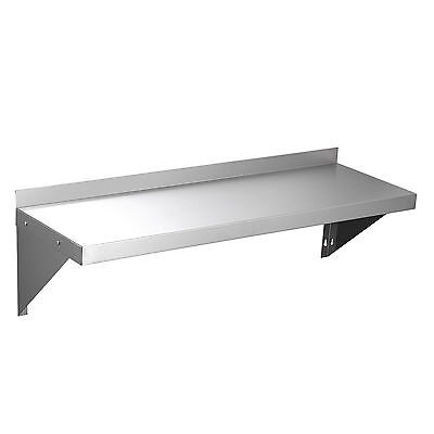 """12""""x36"""" Commercial Stainless Steel Kitchen Wall Shelf Storage Shelves 18 Gauge"""