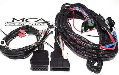 western fisher snow plow 3 port light wiring harness 28986 new western fisher ultramount 3 pin plow truck side wire harness cover 26359 26345