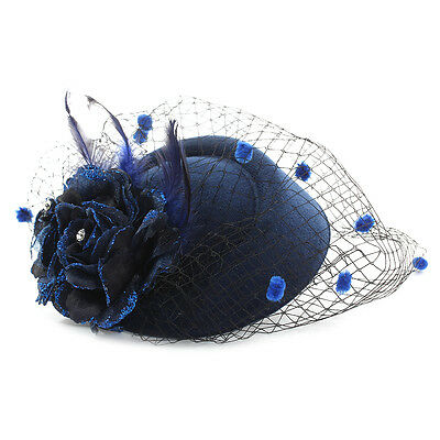 Womens Hair Fascinator Hat Flower Cloth Lace Evening Wedding Party Headpiece