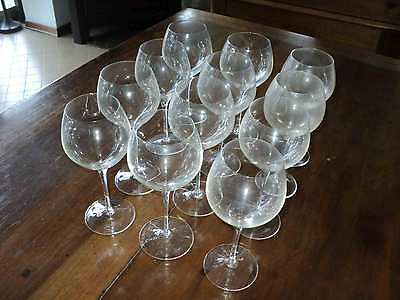 12 bicchieri a calice in cristallo Rosenthal vintage crystal glasses