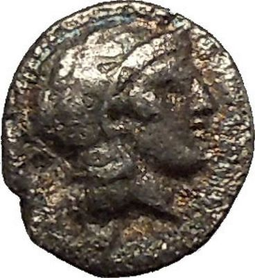 Thourioi in Lucania 425BC Athena Bull Authentic Ancient Silver Greek Coin i53620