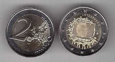 LUXEMBOURG - NEW ISSUE BIMETAL 2 EURO UNC COIN 2015 YEAR 30th ANNI EU FLAG
