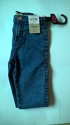 Primark GIRLS High Waist Blue Skinny Jeggings