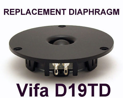 REPLACEMENT DIAPHRAGM for Tweeter Vifa D19TD-05-08 -  8 Ohm