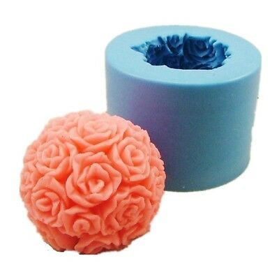 3D Stereo Rose Silicone candle mold Handmade Valentine's Day Candle DIY tool