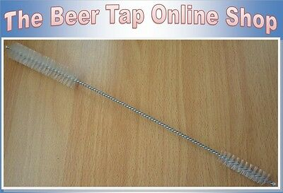 Double Sided Draft Beer Tap Faucet & Shank Cleaning Brush. Kegerator. Home Bar.