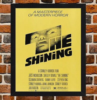 Framed The Shining Movie Poster A4 / A3 Size In Black / White Frame.