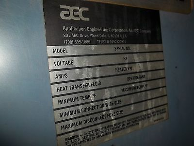 Application Engineering Corporation   Chiller   Volts 460/360