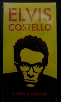 Elvis Costello 2 1/2 Years In 22 Minutes PROMO VHSNEW sealed Watching Detective