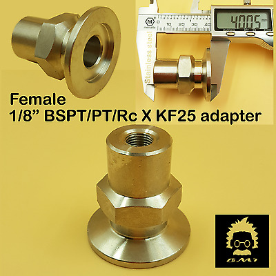"""Adapter KF-25 to 1/8"""" NPT-Female, Made of Stainless Steel 304 FNPT vacuum"""