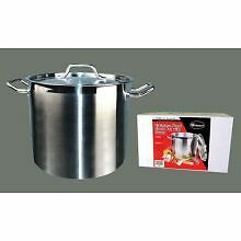 Winco Premium Stainless Steel Stock Pot with Cover, 24 Quart -- 1 set.