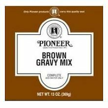 Pioneer Brown Gravy Mix, 6.5 Ounce -- 12 per case.