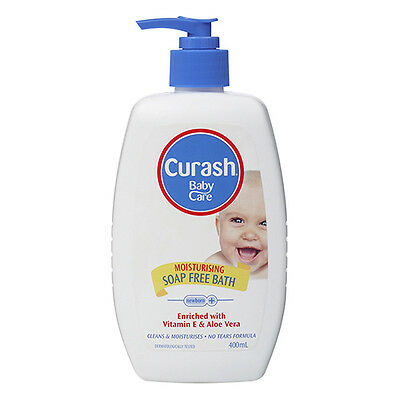 NEW Curash Baby Bath Moisturising Vitamin E And Aloe Vera Soap Free 400ml