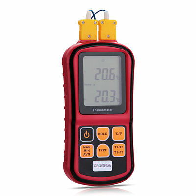 Digital Thermometer 2-Channel 2 K-Type Thermocouple Sensor