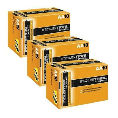 30X Duracell Industrial AA 1.5V LR6 Alkaline Battery MN1500 Replaces Procell AA
