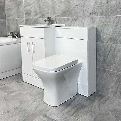 1000mm Turin Vanity Furniture Basin Sink and Toilet Set Bathroom Suite Units