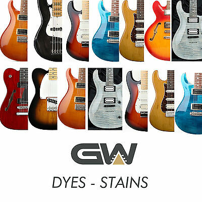 Fast Concentrate Dyes - Stains for Guitar Finishing - Luthier