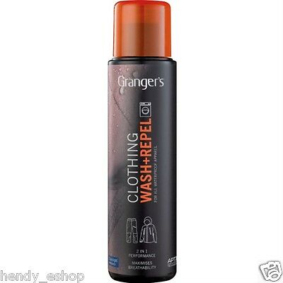 Grangers Wash + Repel 2 in1 Clothing Cleaner 300ml Gore-Tex Event Waterproofer