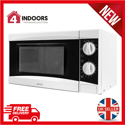 Akai A24001 Manual 20Ltr - 800w Microwave in White - Brand New UK Stock