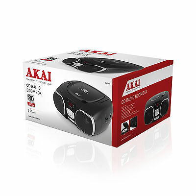 Akai A60009 CD - Radio Portable Boombox with LED Display - Brand New