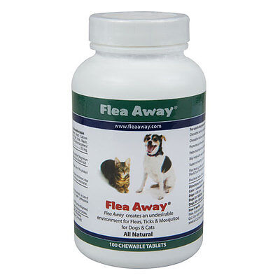 Flea Away, the natural flea, tick and mosquito repellent 100 Tablets - 3 Pack