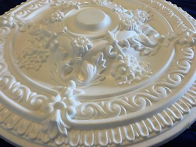 """2 x 68cm/27"""" Very Large SUN Ceiling Rose Polystyrene  Easy Fit Very Light Weight"""